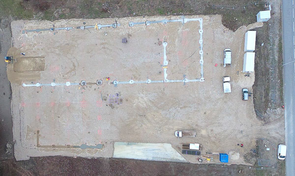 photo drone avancement chantier 1